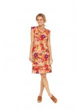 Cassy Cotton Braid Dress Geisha Print