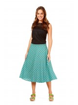 Beth Cotton Wrap Skirt – Green Chakra Print