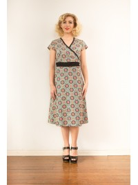 Leela Cotton Wrap Dress - Morocco Print