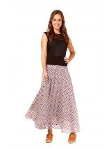 Nicole Long Cotton Voile Skirt – Bundi Print