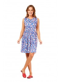 Audrey Cotton Dress Sakura Print