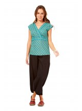 Maharani Cotton Top - Green Chakra Print
