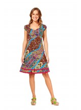 Gabi Cotton Dress Disco Print