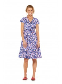 Astrid Cotton Wrap Dress - Sakura Print