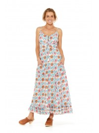 Violet Maxi Dress- Starflower Print