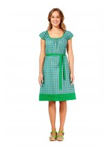 Cherie Cotton Tunic Dress - Green Chakra & Spot Print