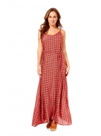 Clarissa Strappy Maxi Dress - Orange Chakra Print