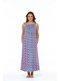 Fifi Strappy Maxi Dress - Sol Blue Print