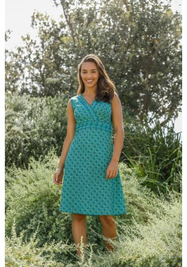 Jaya Cotton  Dress Green Chakra  Print