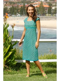 Sophie Dress-  Green Chakra Print