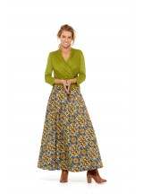 Grace Long Cotton Wrap Skirt - Thea  Print
