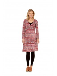 Sunburst  L/S Wrap Dress- Haveli Print