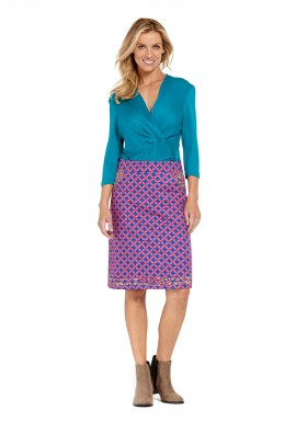 Electra Cotton Pocket Skirt - Maya Print