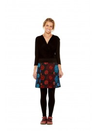 Cosmos Cotton Skirt- Mixed Panels