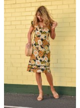 Cassy Cotton Braid Dress Klimt  Print