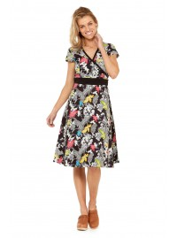 Leela Cotton Wrap Dress - Nikko  Print
