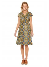 Astrid Cotton Wrap Dress - Thea Print