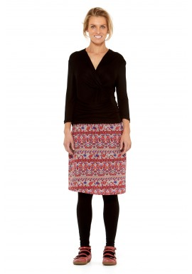 Maggie Stretch Cotton Skirt- Haveli  print
