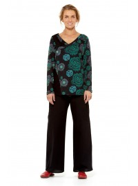 Inga Faux Wrap Top - Hara Print