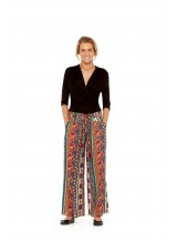 Nat Rayon Trouser with pockets -  Fresco  Print