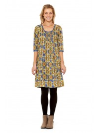 Inga Cotton Dress - Thea  Print