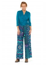 Nat Rayon Trouser with pockets -  Boheme Print
