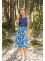 Beth Cotton Wrap Skirt – Bouquet Print