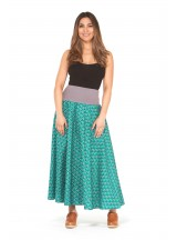Nicole Long Cotton Voile Skirt – Creation Print