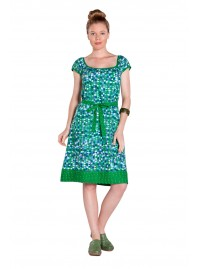 Kate Cotton Tunic Dress - Mozaic Green & Spot Print