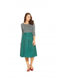 Amber Pleat  Cotton Skirt - Check  Print