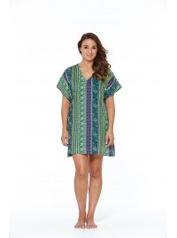 Hannah  Cotton Voile Tunic in Kota  print