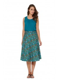 Beth Cotton Wrap Skirt – Patchwork Print