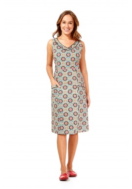 Betty Dress with pockets- Morocco Print